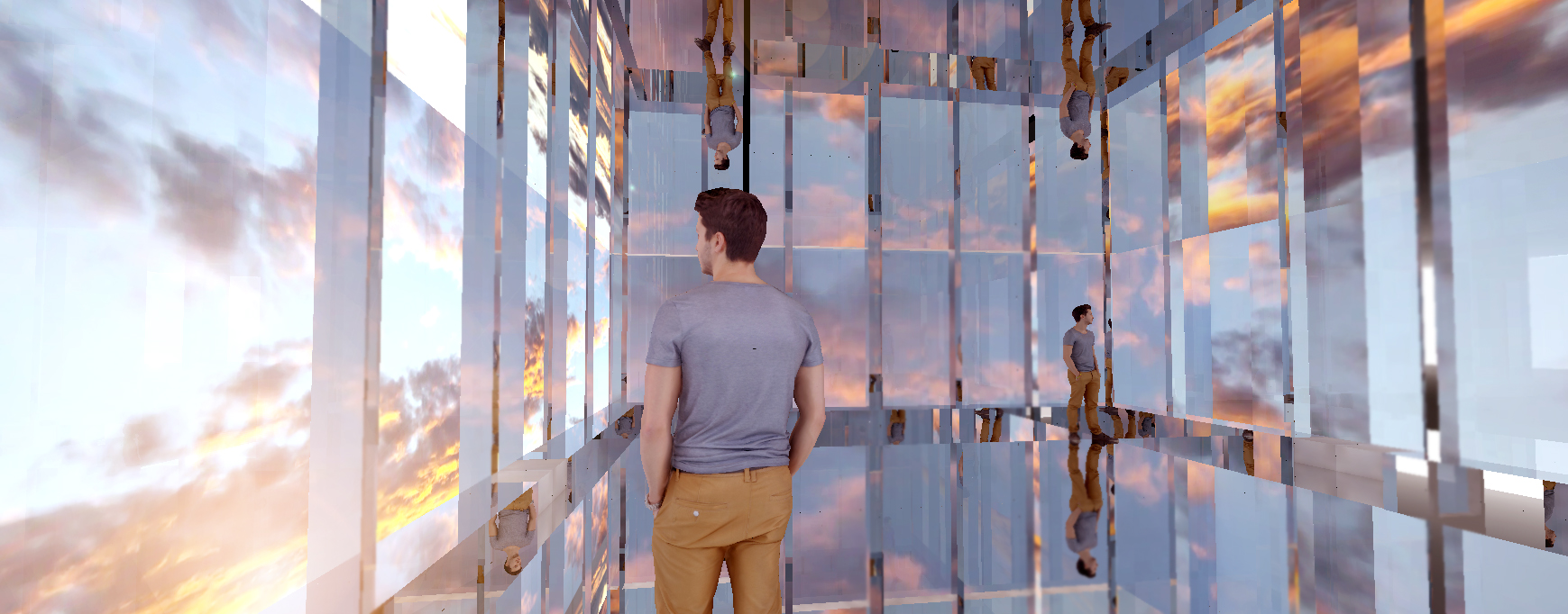 Conceptual rendering for Skyroom. A temporary installation at the 69th floor of the World Trade Center Tower 4 Gallery.