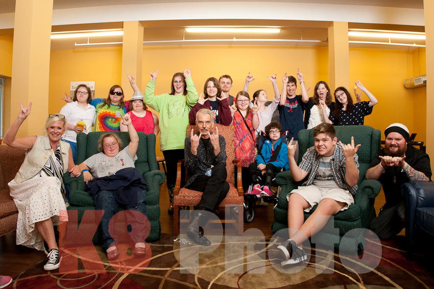 Billy and Merrimack Hall's Creative Writing class for teens with special needs.