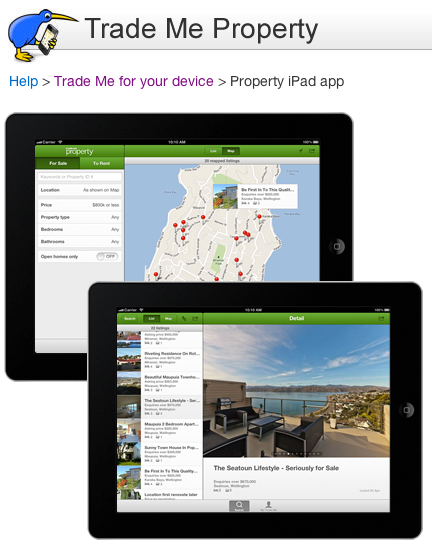 Trade Me Property iPad app | Trade Me.png