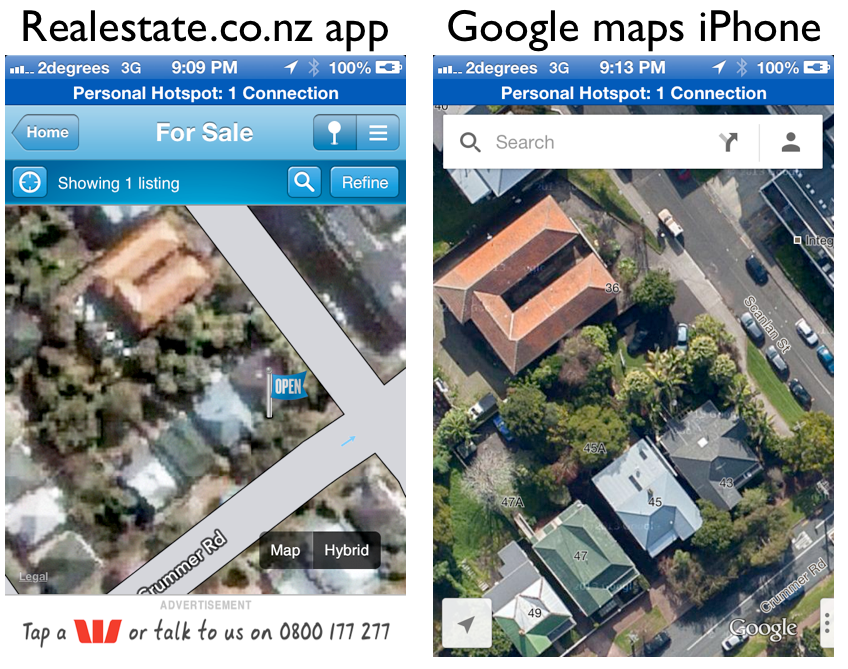 Realestate app vs Google maps.png