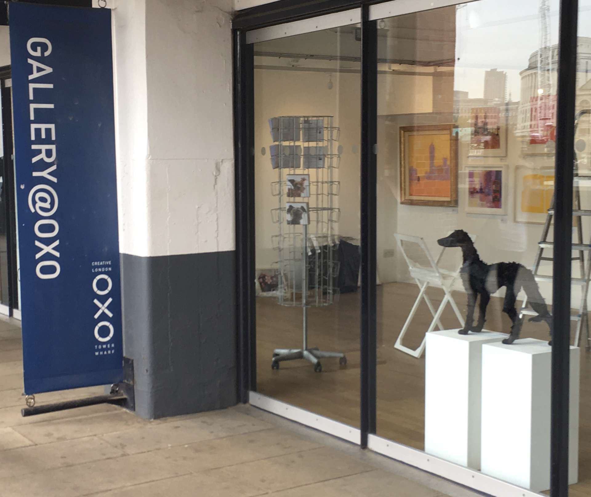 How much is that doggy in the window?  Hanging Day at Gallery @Oxo  18th June——-opening night tomorrow 19th June