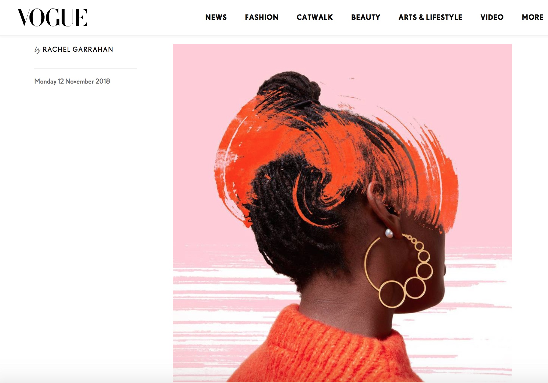 Bubble Earrings: Vogue, November 2018, Motley London & Sian Evans collaboration. Read the article  here