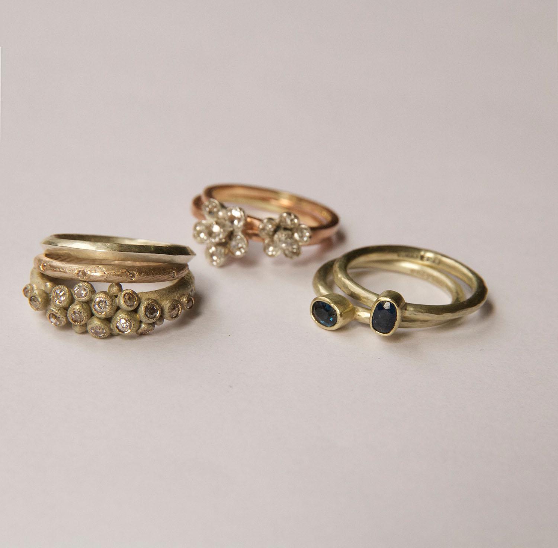 Bespoke 18ct gold rings