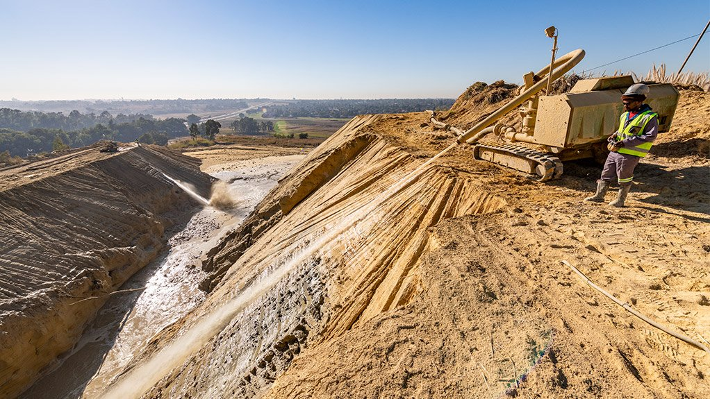 DRD Gold - Tailings heap in South Africa