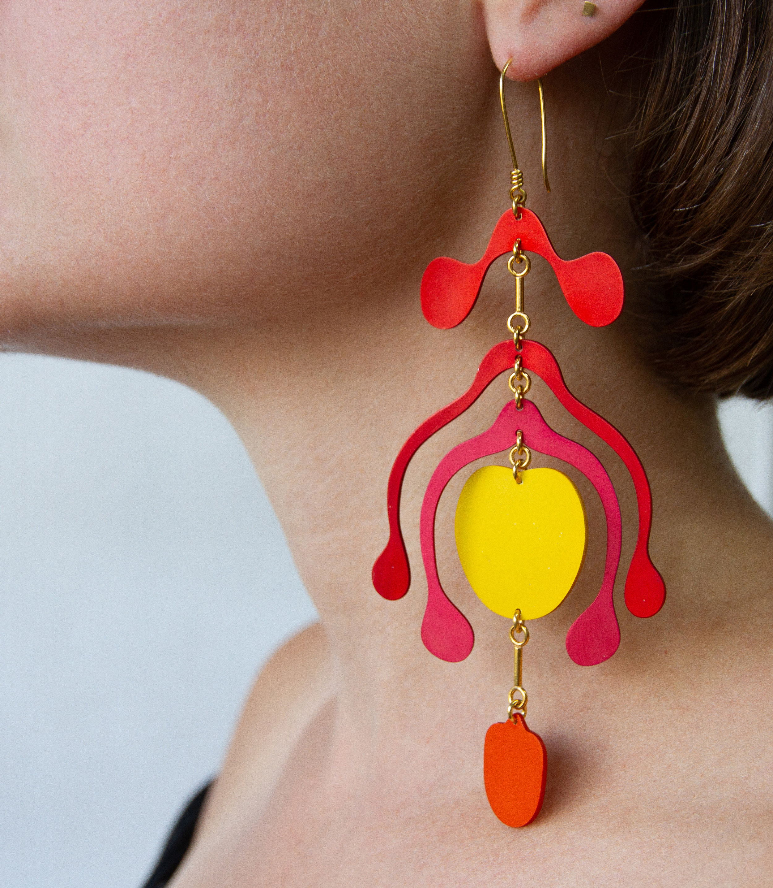 Androecium earrings in Sunset £495