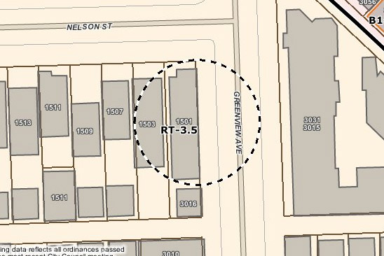1501 W Nelson Zoning Map