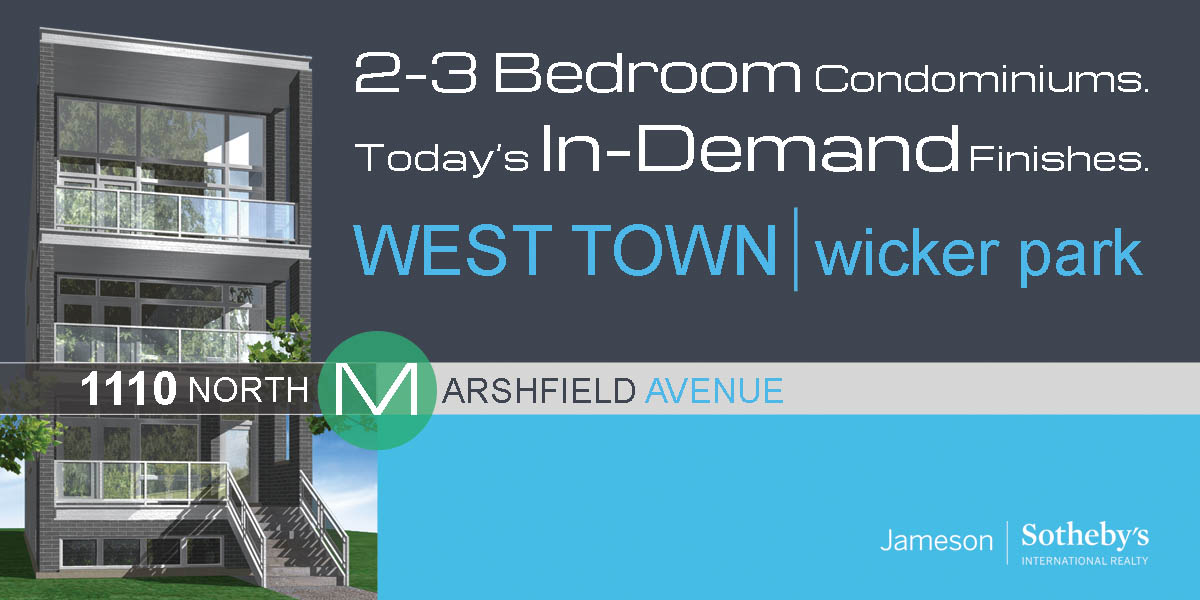 new construction condos in west town located at 1110 north marshfield ave, chicago.