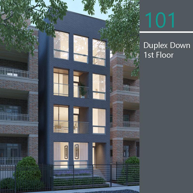 Unit 1F floor plan
