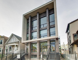 3129 W. LYNDALE ST. CHICAGO  3 unit condo building project sales & marketing developer REPRESENTATION