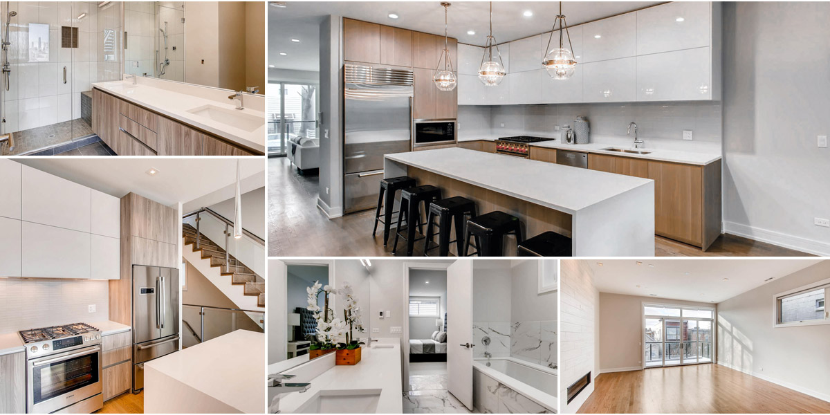 example kitchens and baths at 877 n marshfield ave, chicago.