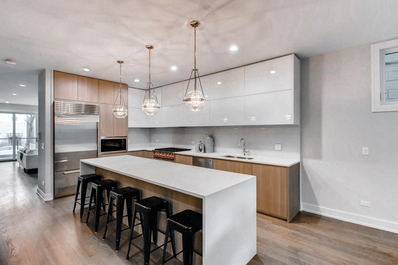 Kitchen at 877 N Marshfield Ave Unit 1, Chicago, IL