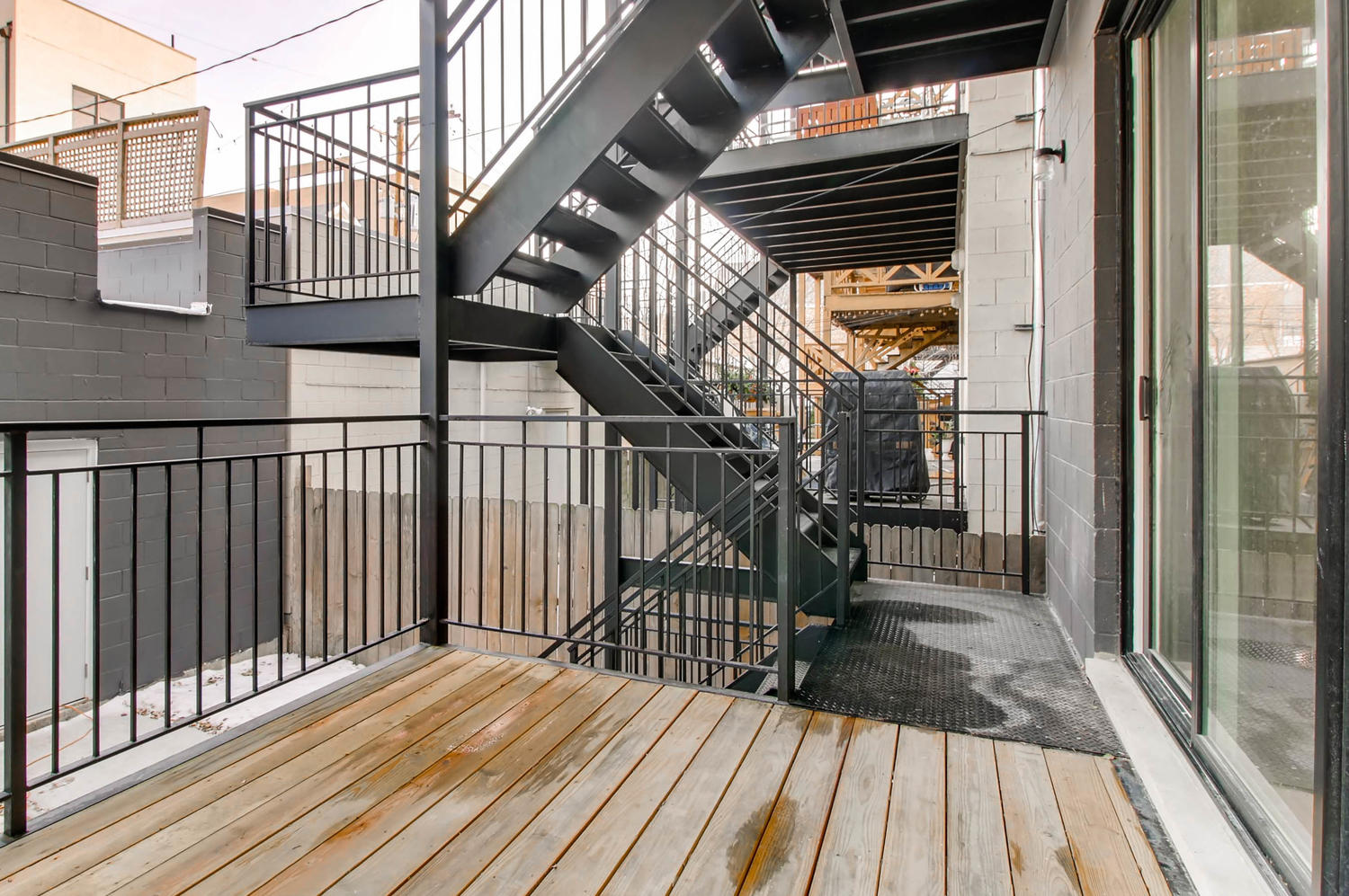 Deck or balcony at 877 N Marshfield Ave Unit 1, Chicago, IL