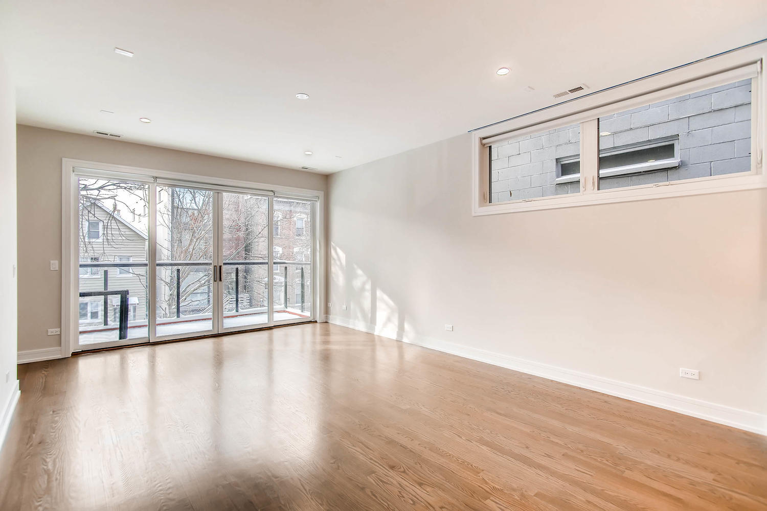 Living room at 877 N Marshfield Ave Unit 2, Chicago, IL