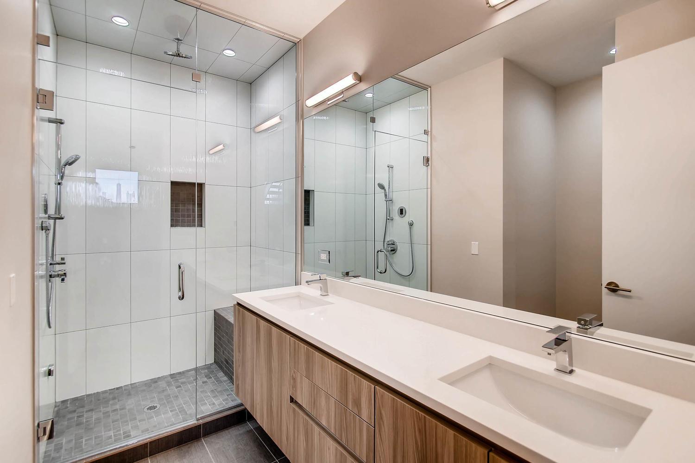 Master bath at 877 N Marshfield Ave Unit 2, Chicago, IL