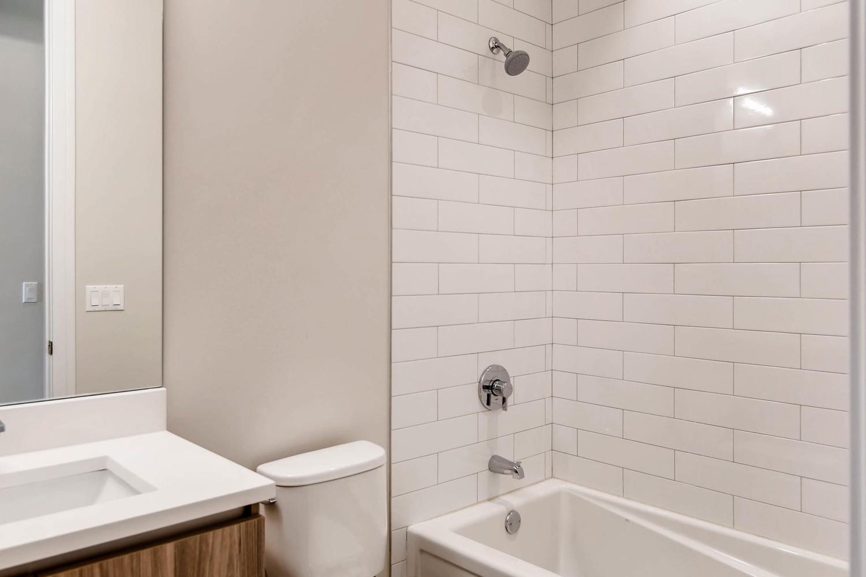 Guest bath at 877 N Marshfield Ave Unit 3, Chicago, IL