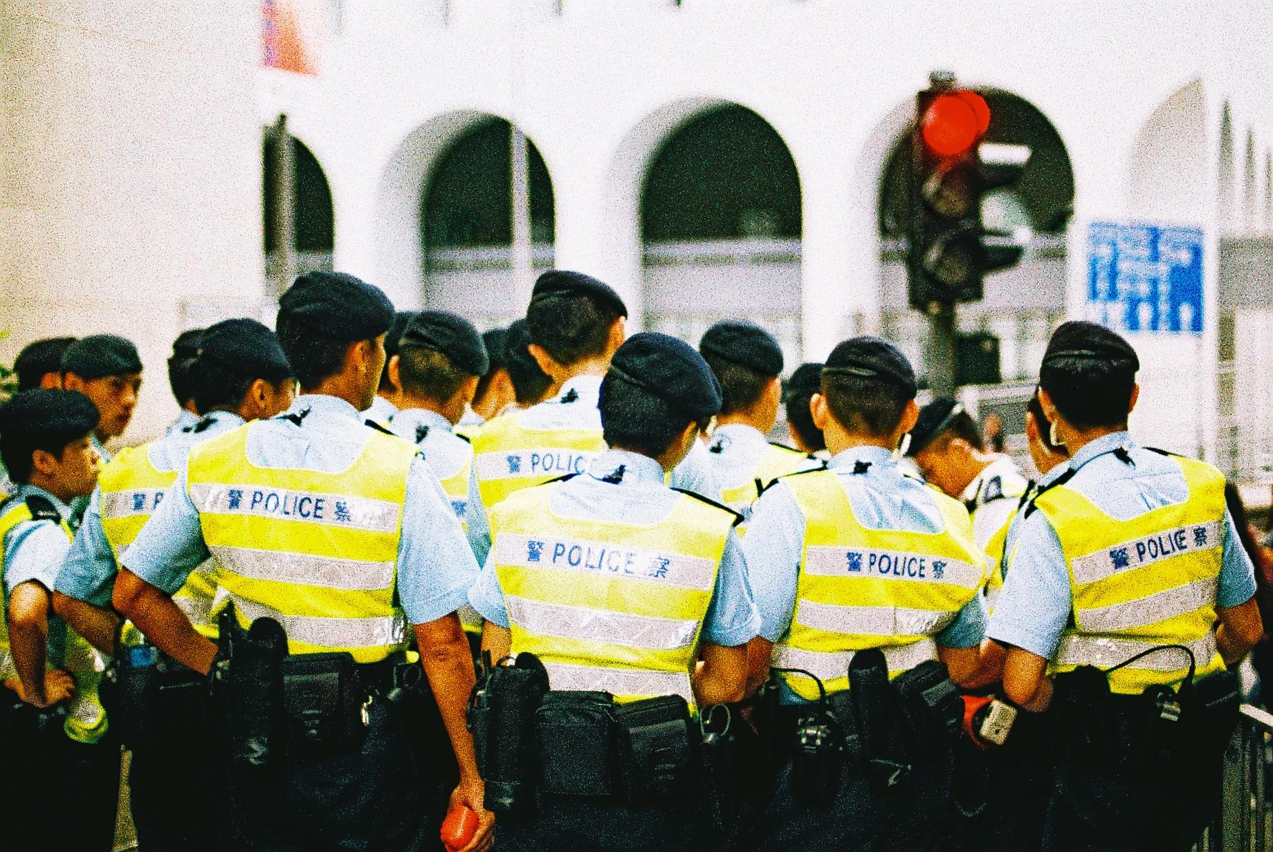 Hong Kong Police at work!