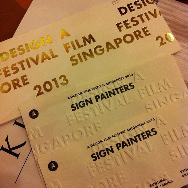 Design Film Festival 2013 - Sign Painters
