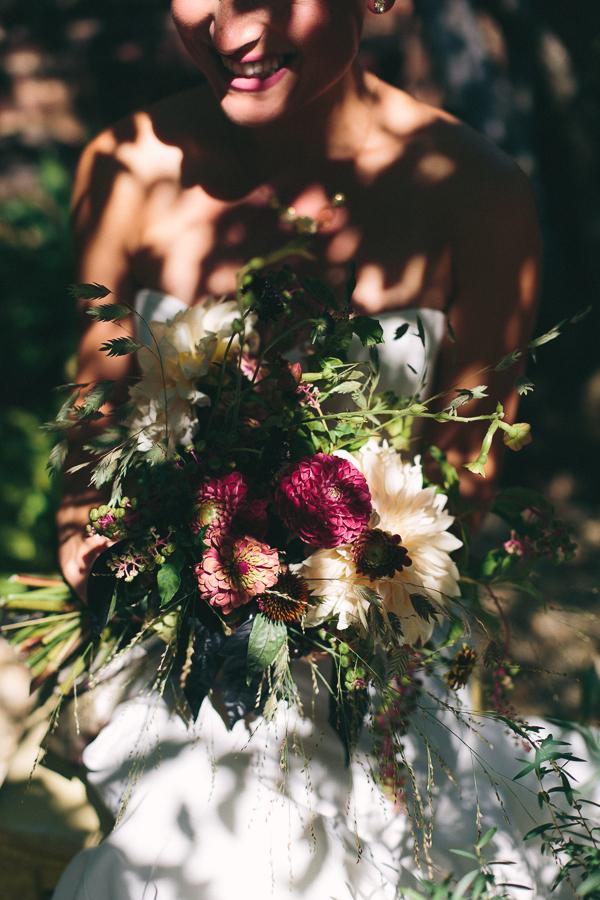 wildflower wedding bouquet by fox fodder farm