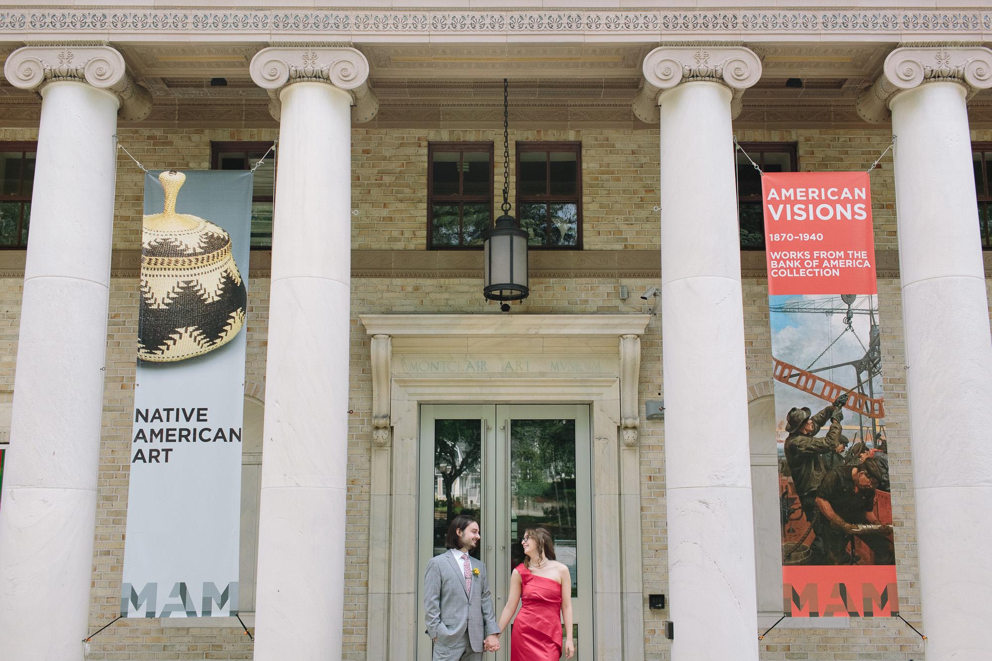 nontraditional montclair museum wedding