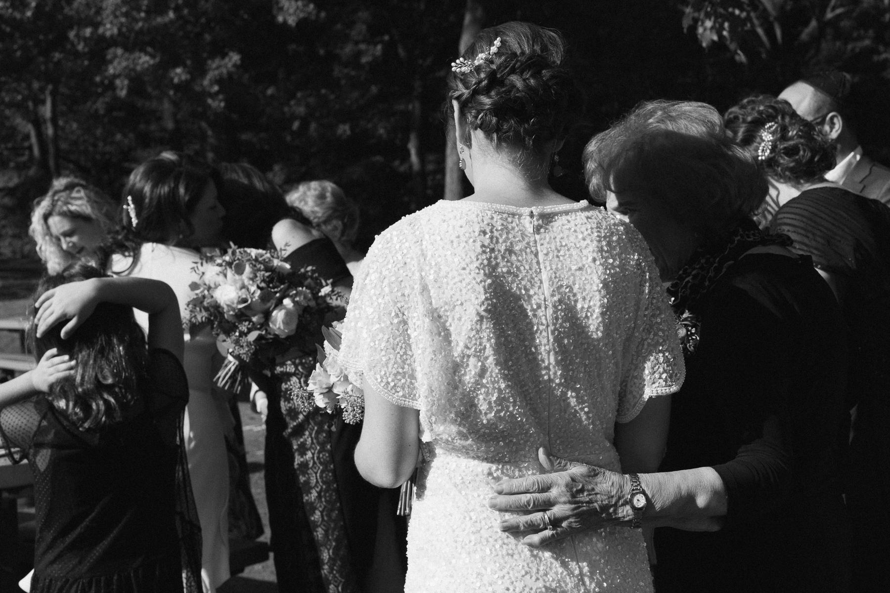 modern ketubah ceremony prospect park wedding ceremony