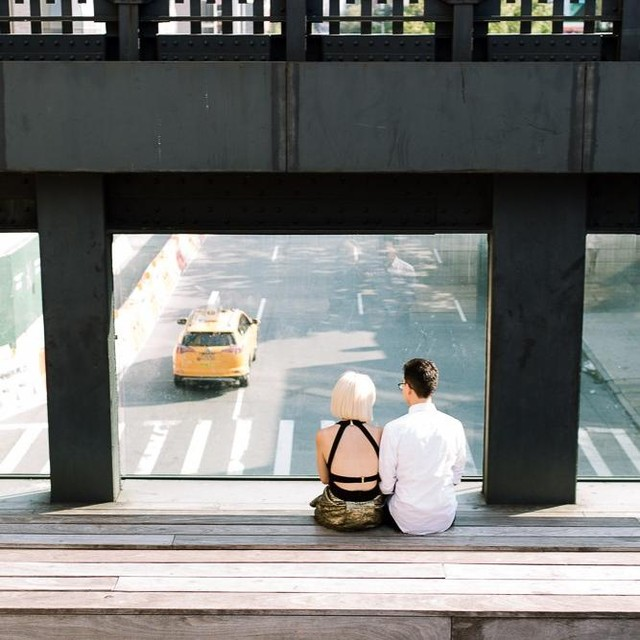 Engagement Sessions // Early morning vibes from a recent engagement session on the High Line✌️💫 Interested in setting up one of your own? DM me to get the convo started!