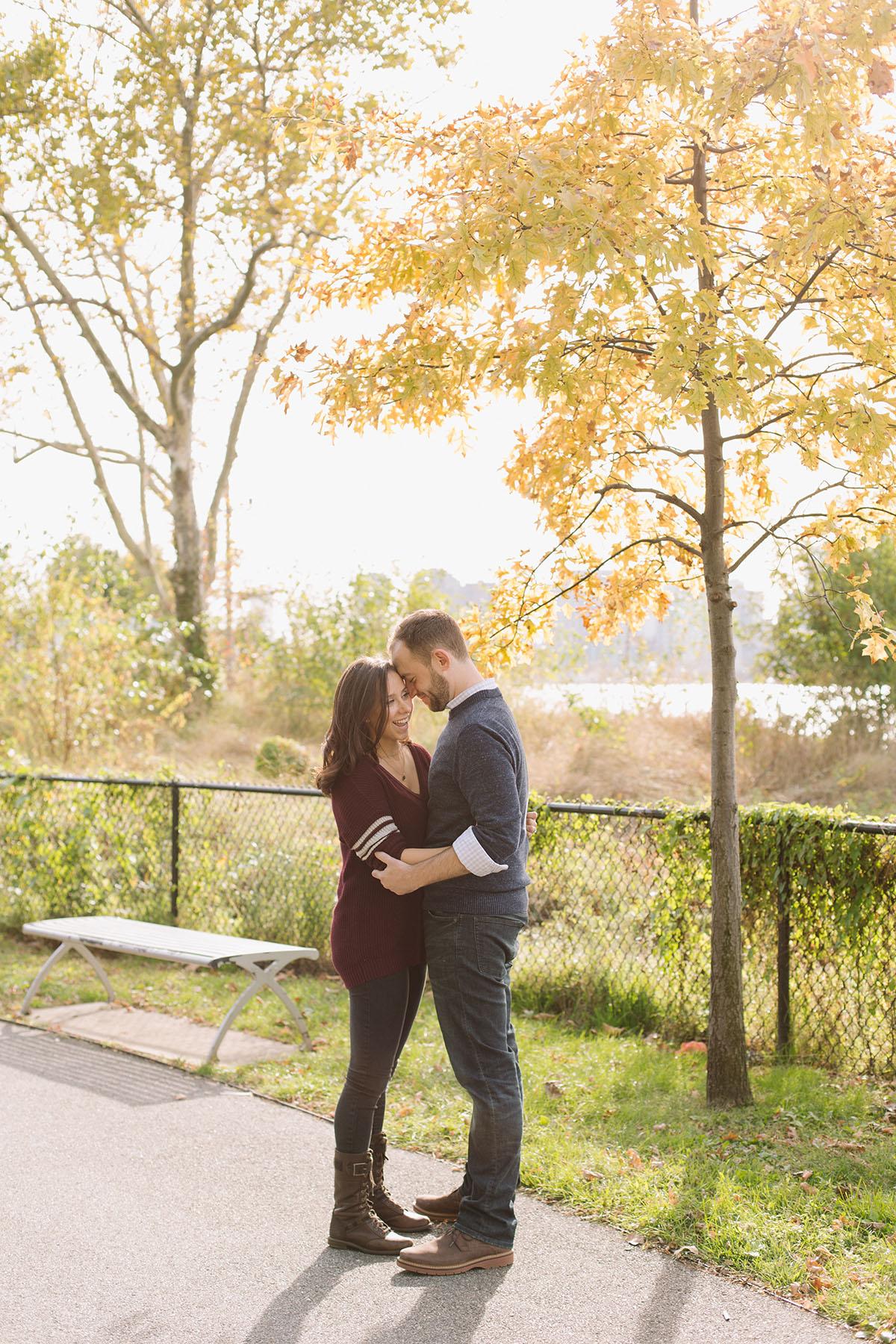 Autumn New York Engagement Photos