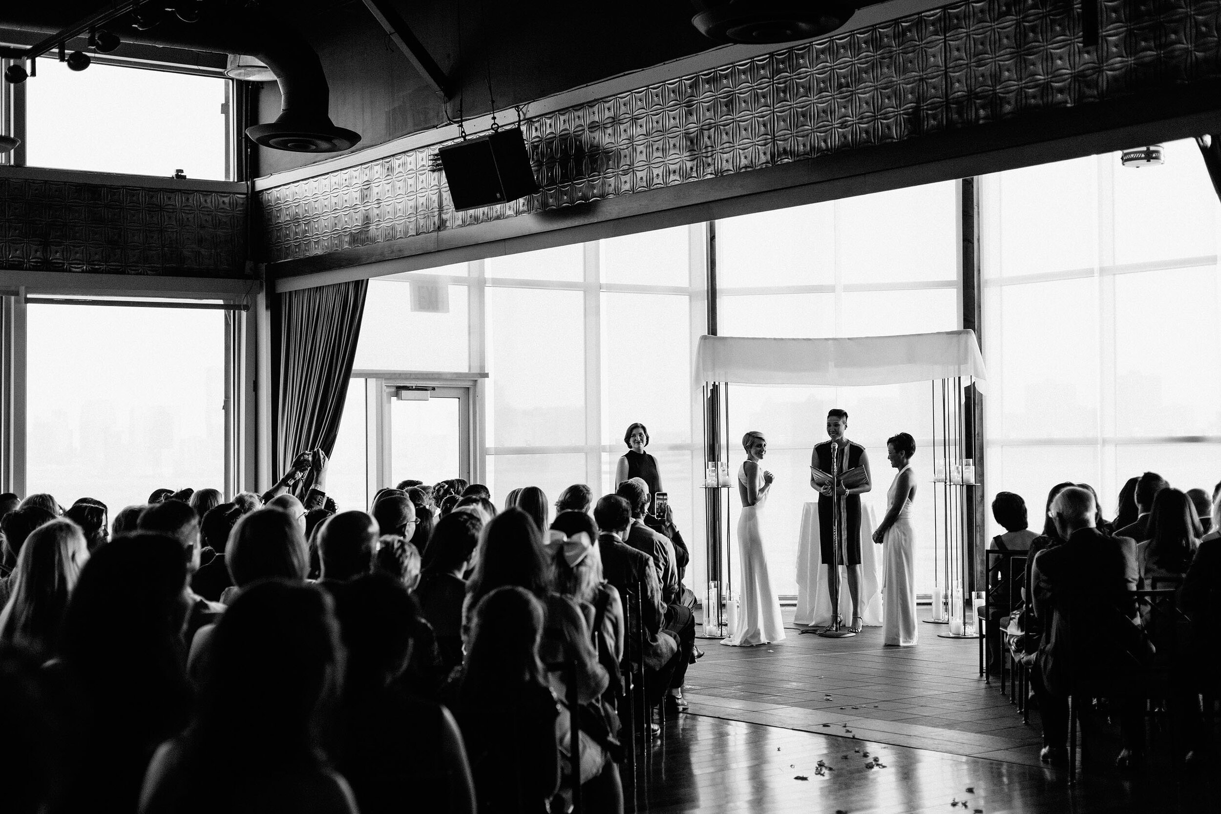 Lighthouse at Chelsea Piers Wedding // Fran + Lauren  View Post