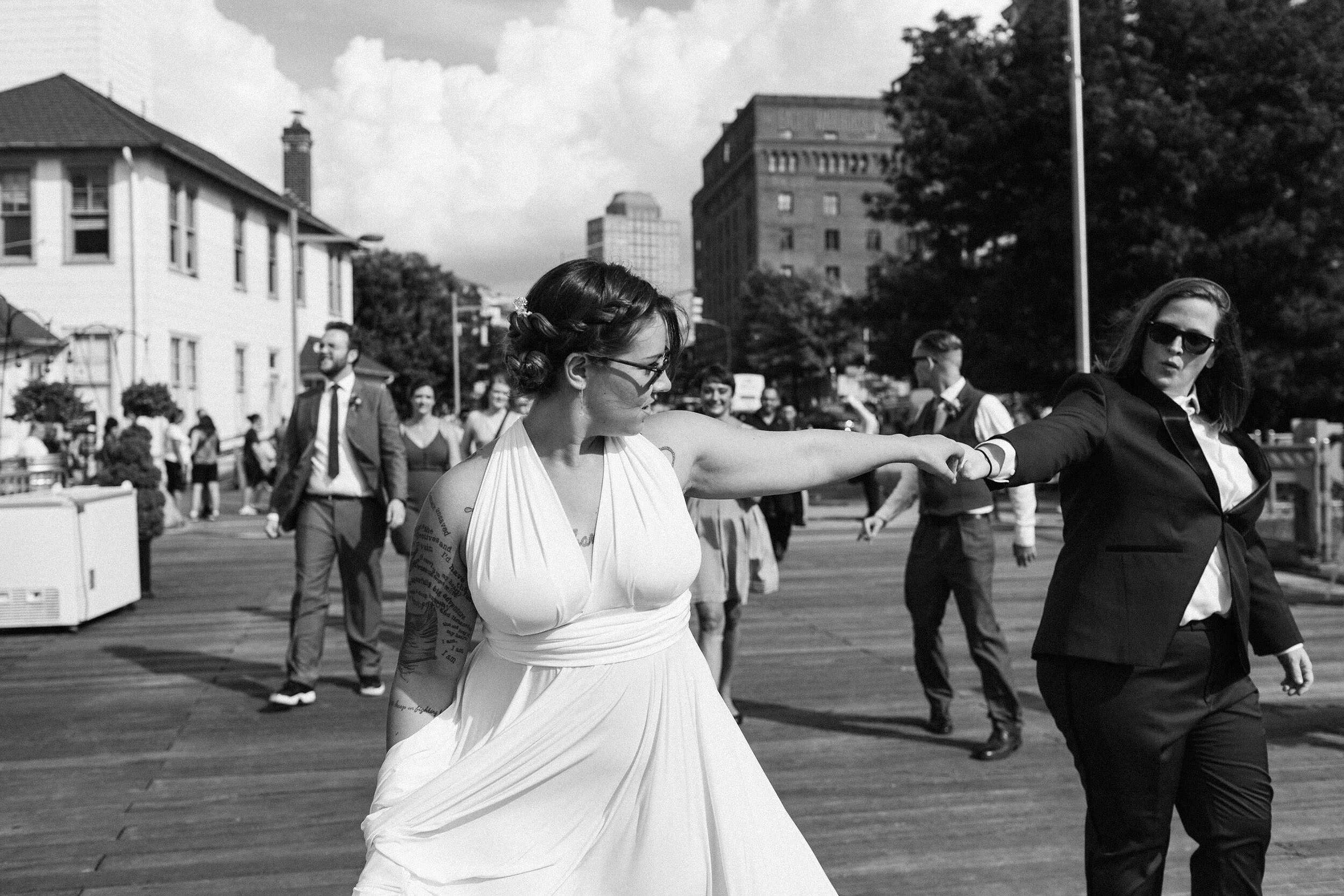 Bell House Wedding, Brooklyn // Sara + Megan  View Post