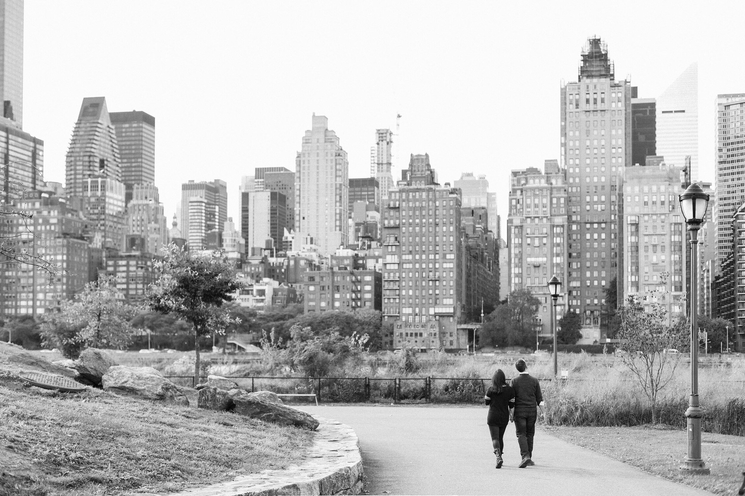 Roosevelt Island Engagement Session // Rebecca Evan  View Post