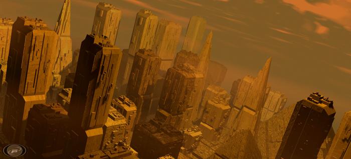 Animation Still: 'City flythrough' created in 3D Studio Max '97