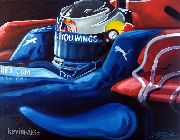 Sebastian Vettel  2009  This piece is available.  Please contact kevin@kevinpaigeart.com for inquire