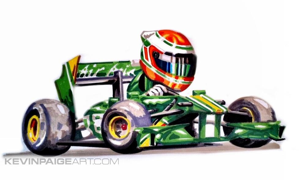 Jarno Trulli Caterham Cartoon