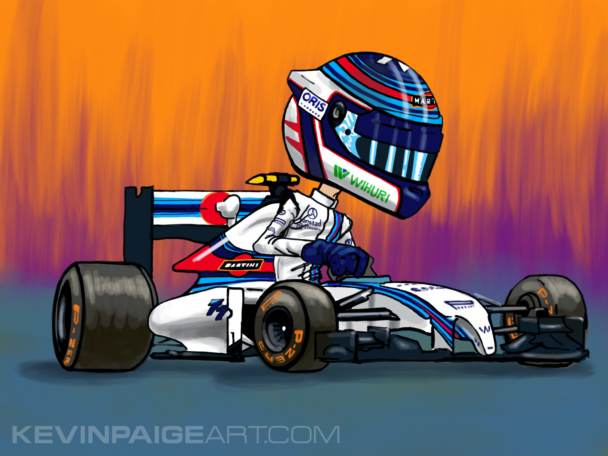 Valtteri Bottas Williams F1 Cartoon