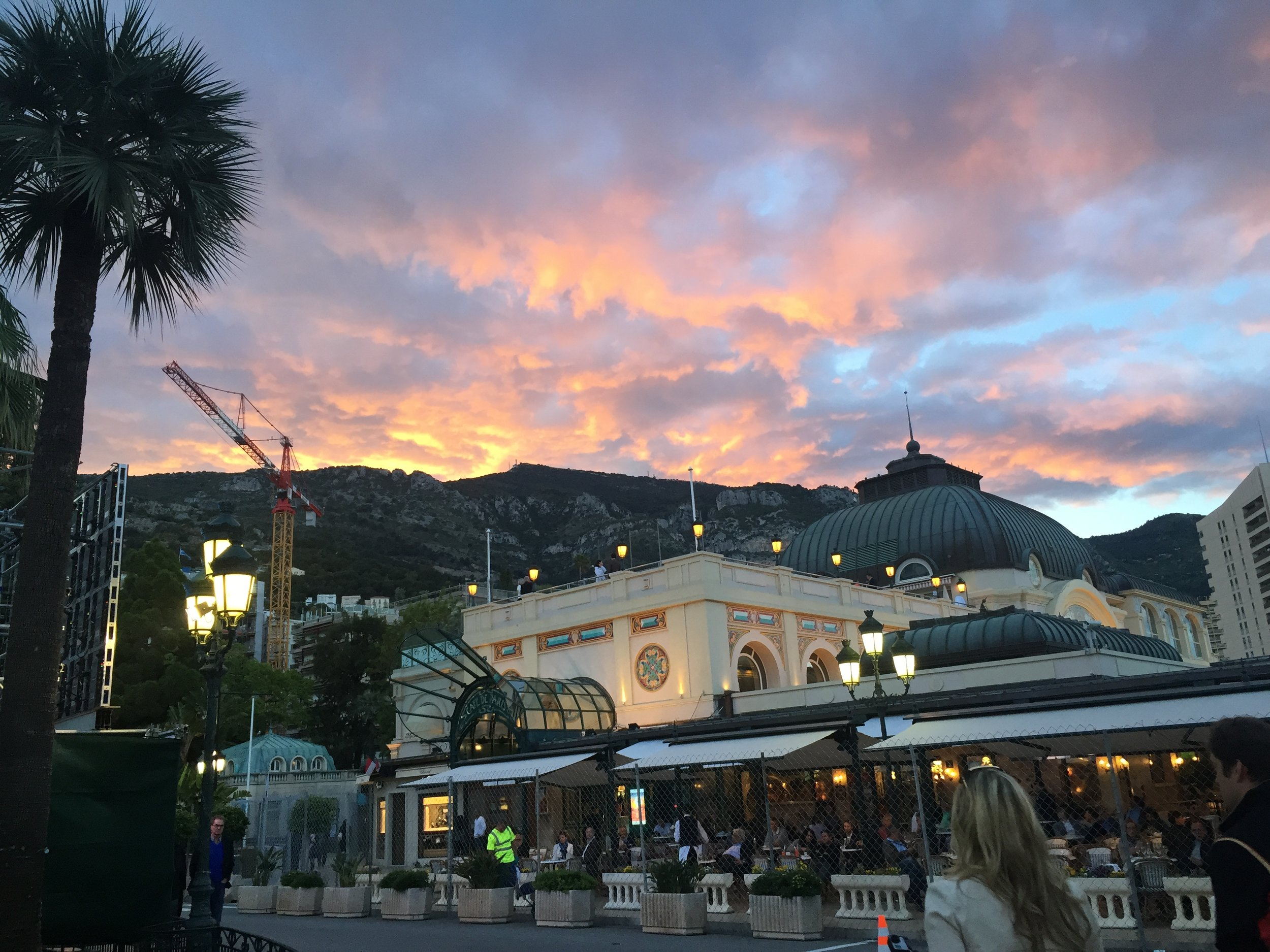 Cafe de Paris at sunset