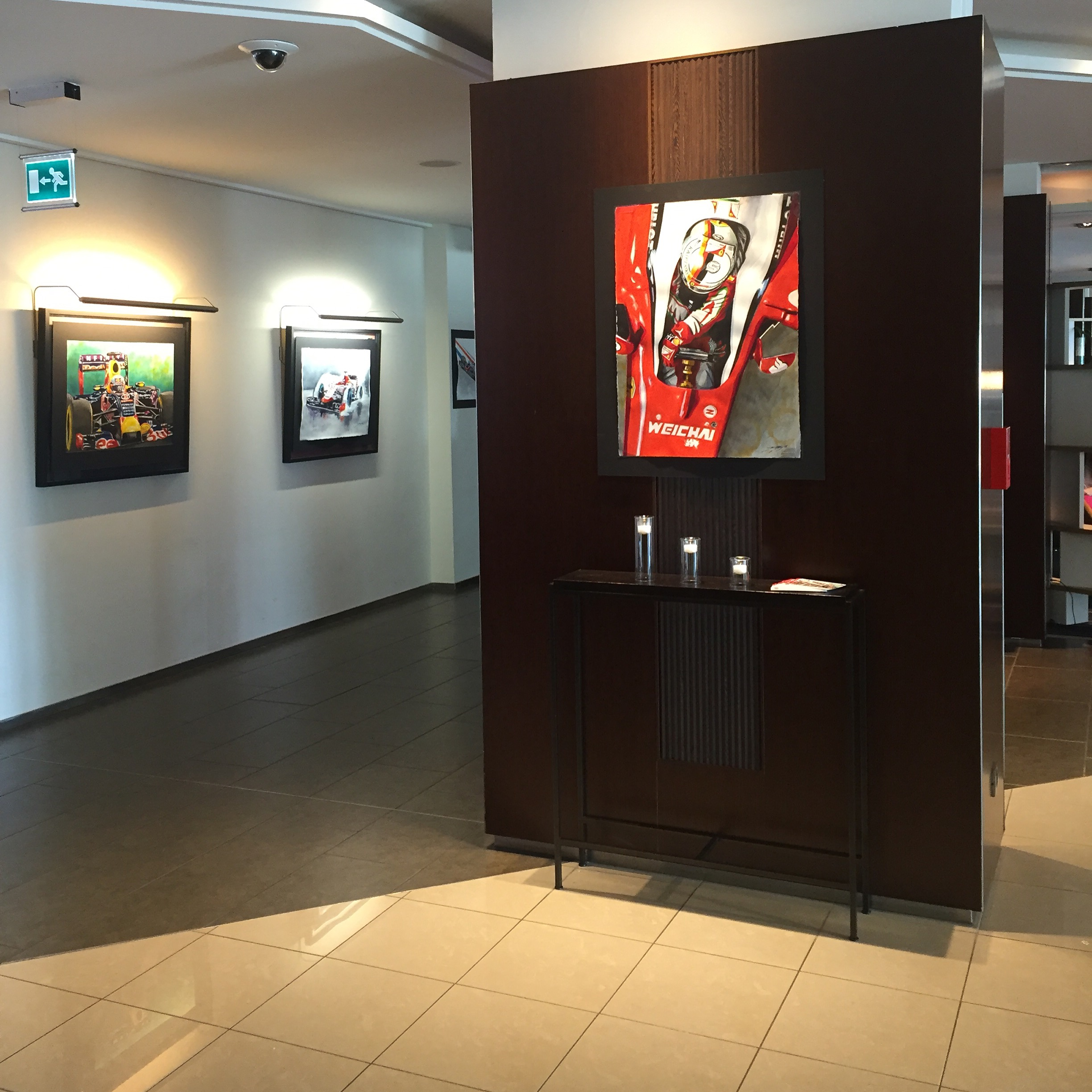 Paintings on display at Le Meridien in Monaco