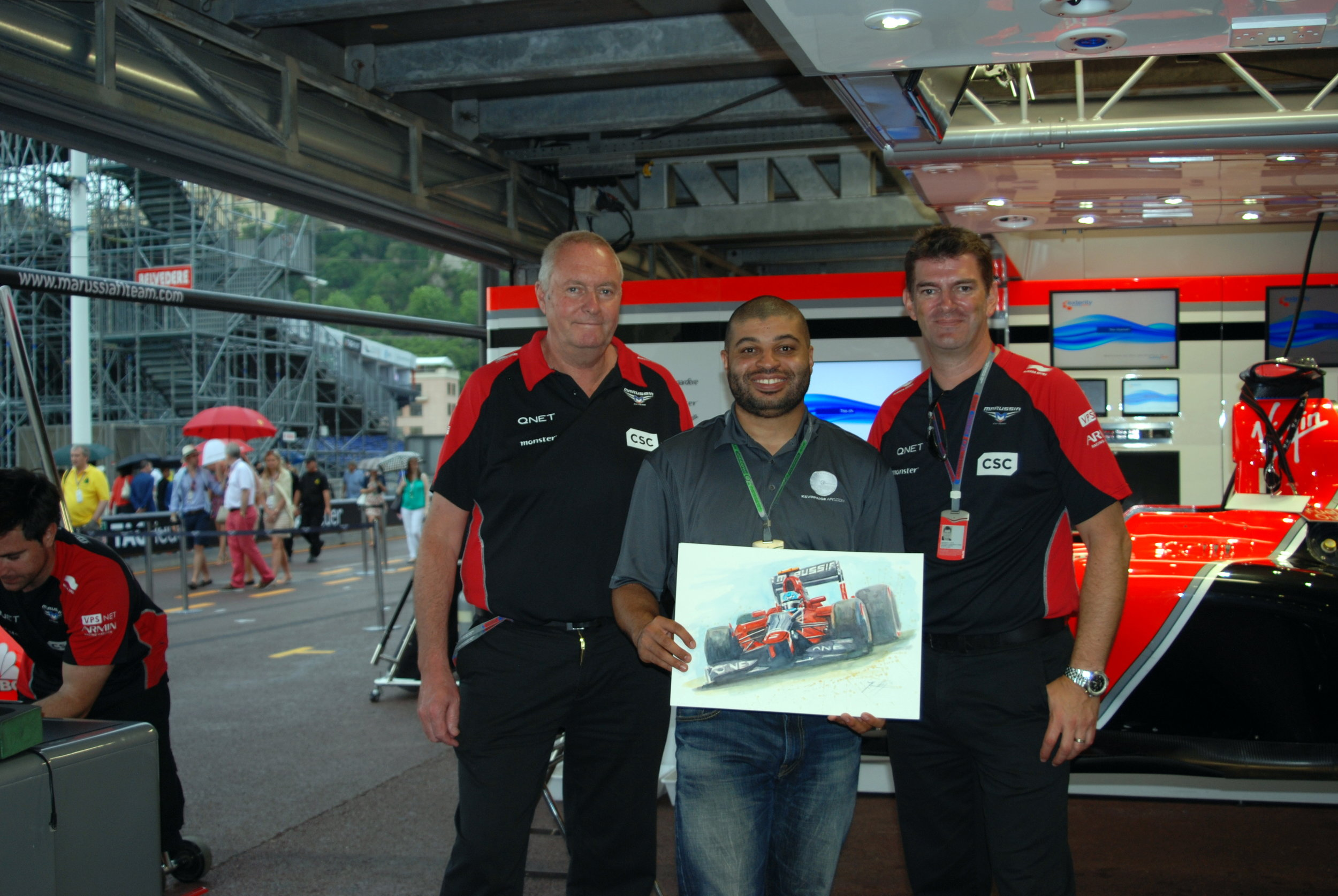 With the Marussia team in Monaco