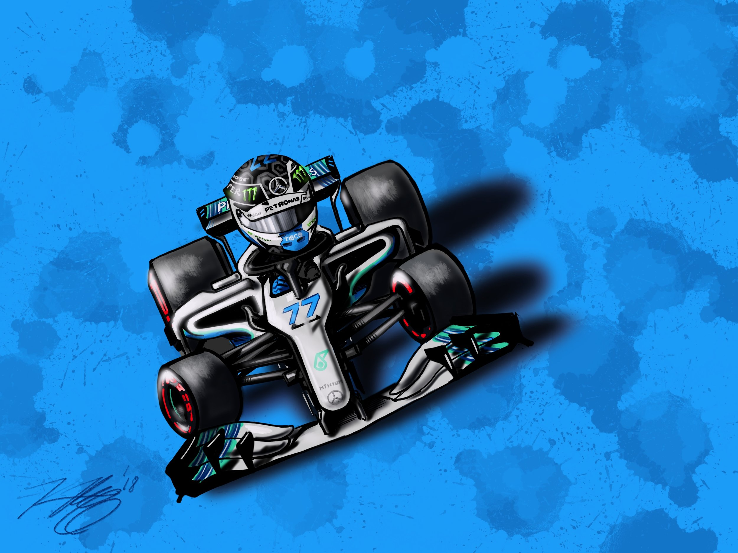 Bottas Cartoon