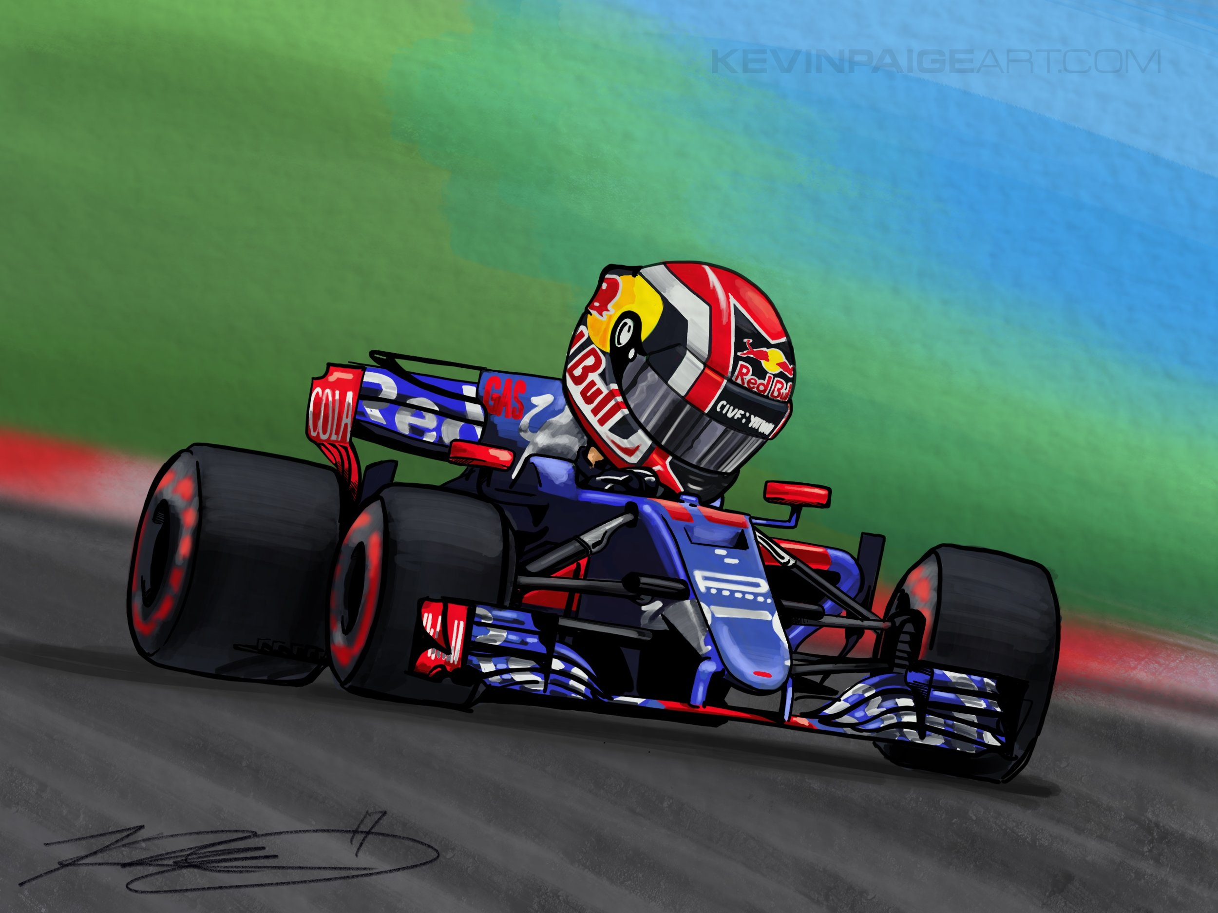 Gasly Cartoon