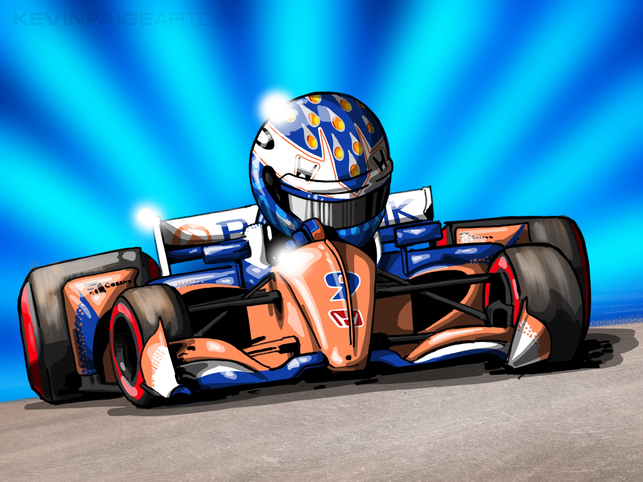 Scott Dixon Cartoon