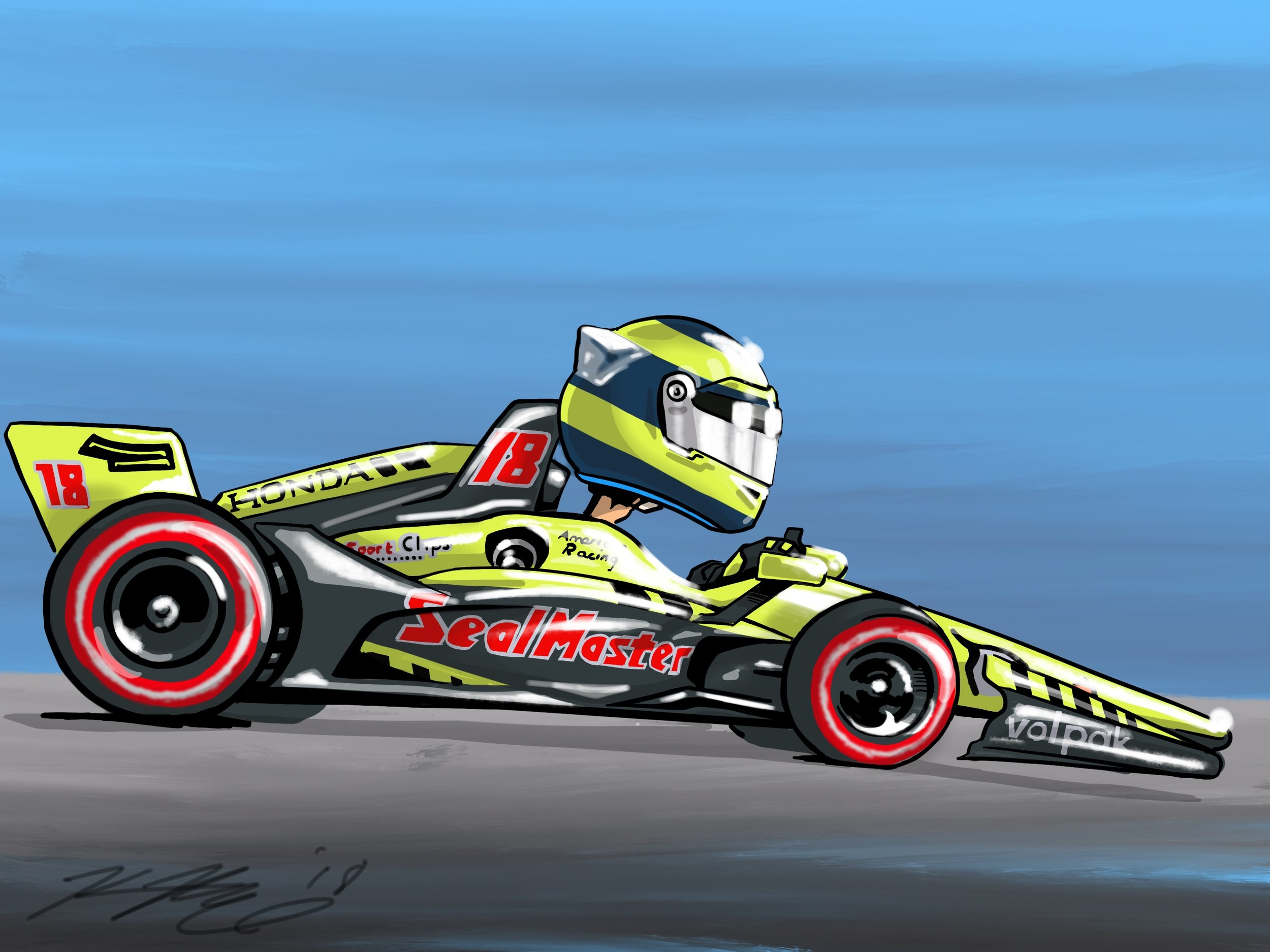 Bourdais Cartoon 2018