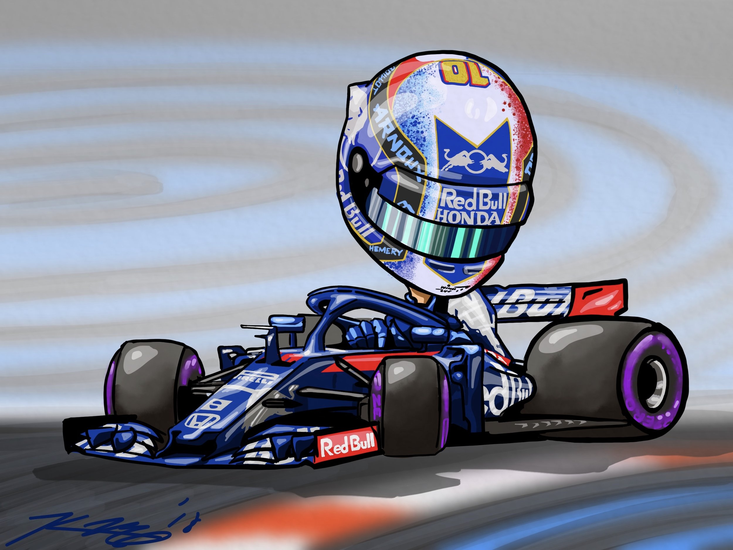 Gasly Cartoon 2018