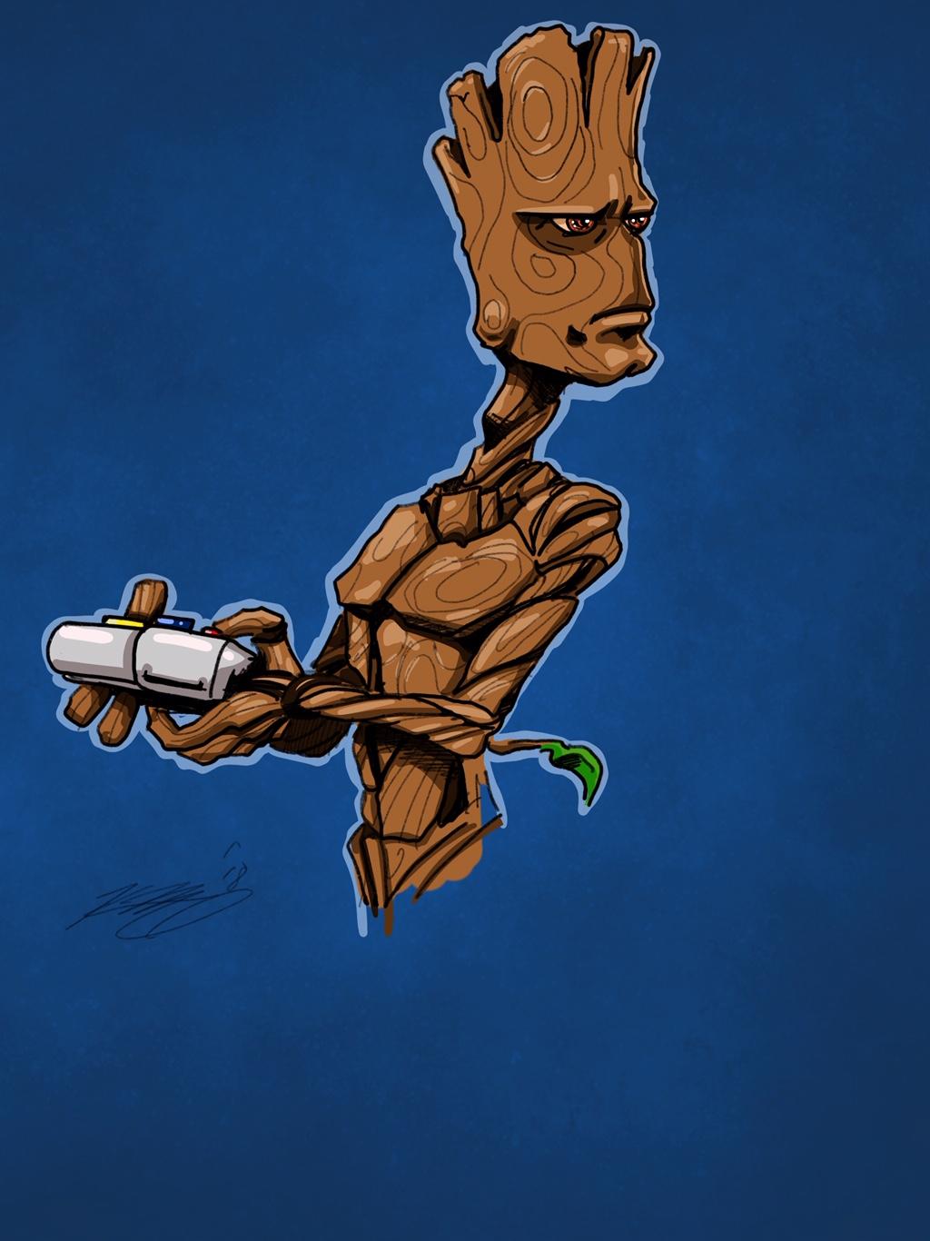 Teenage Groot Digital Sketch