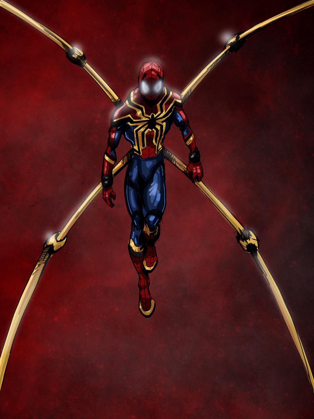 Iron Spider Digital Sketch
