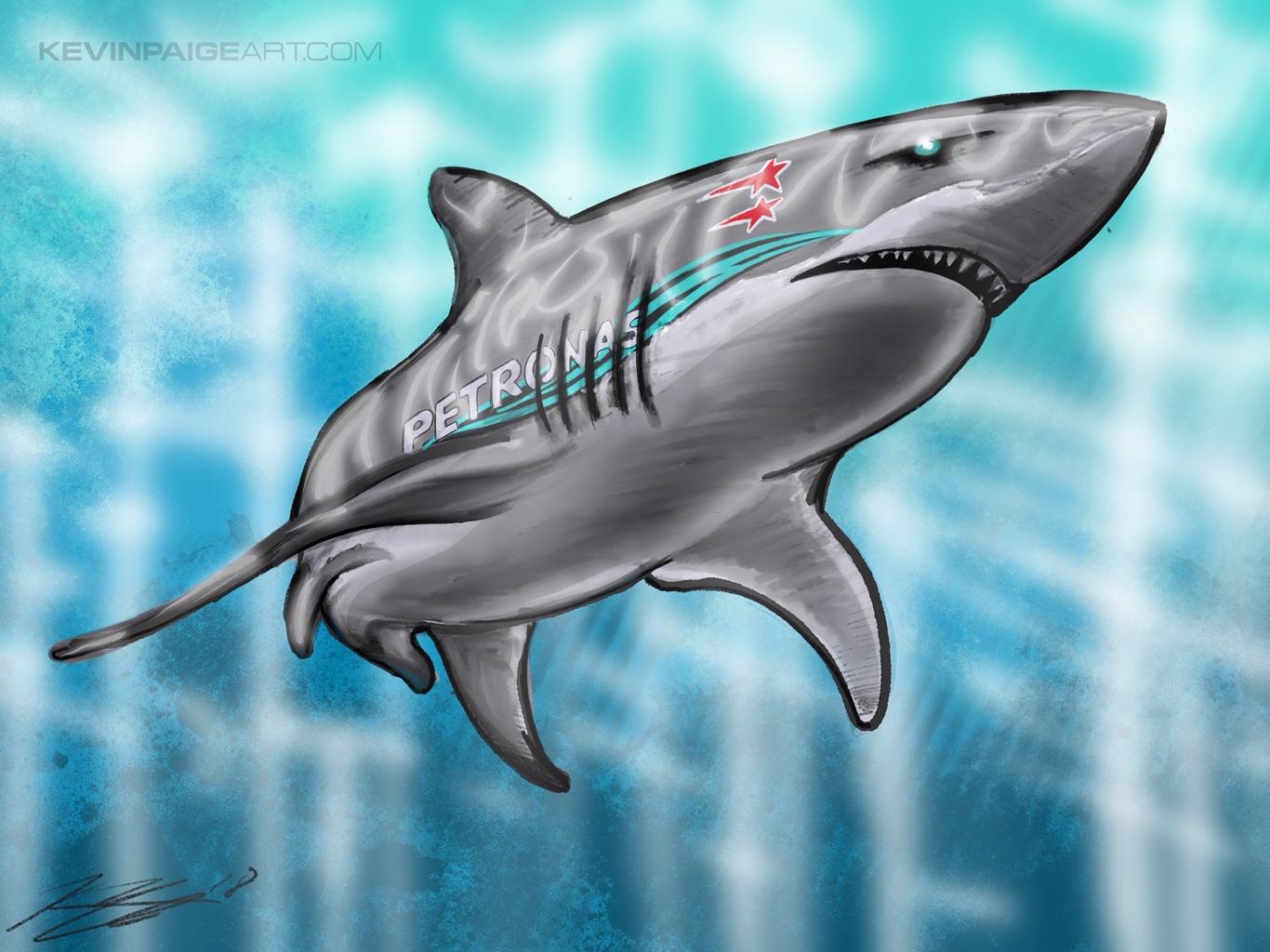 Hamilton Shark Digital Sketch