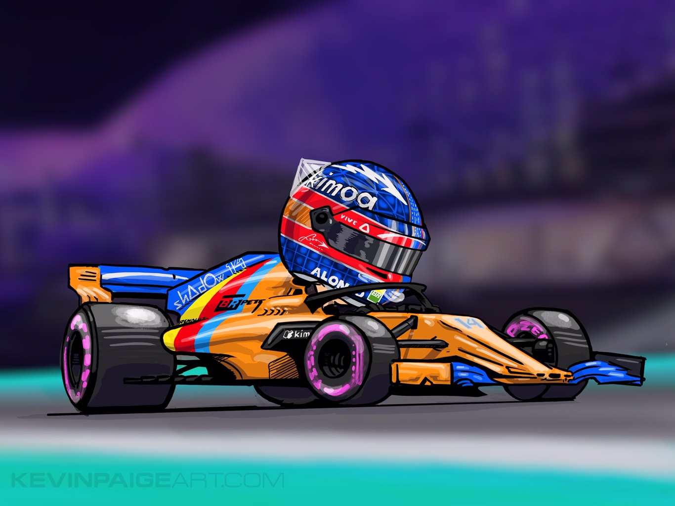 Fernando Alonso  Digital Cartoon