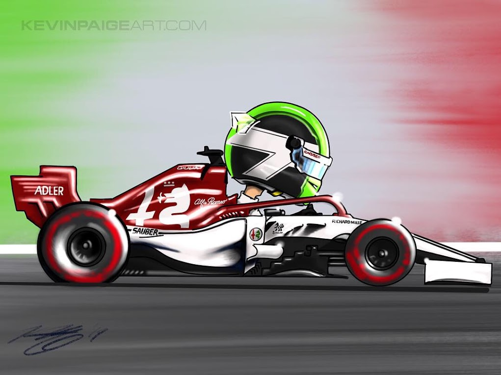Giovinazzi Cartoon 2019