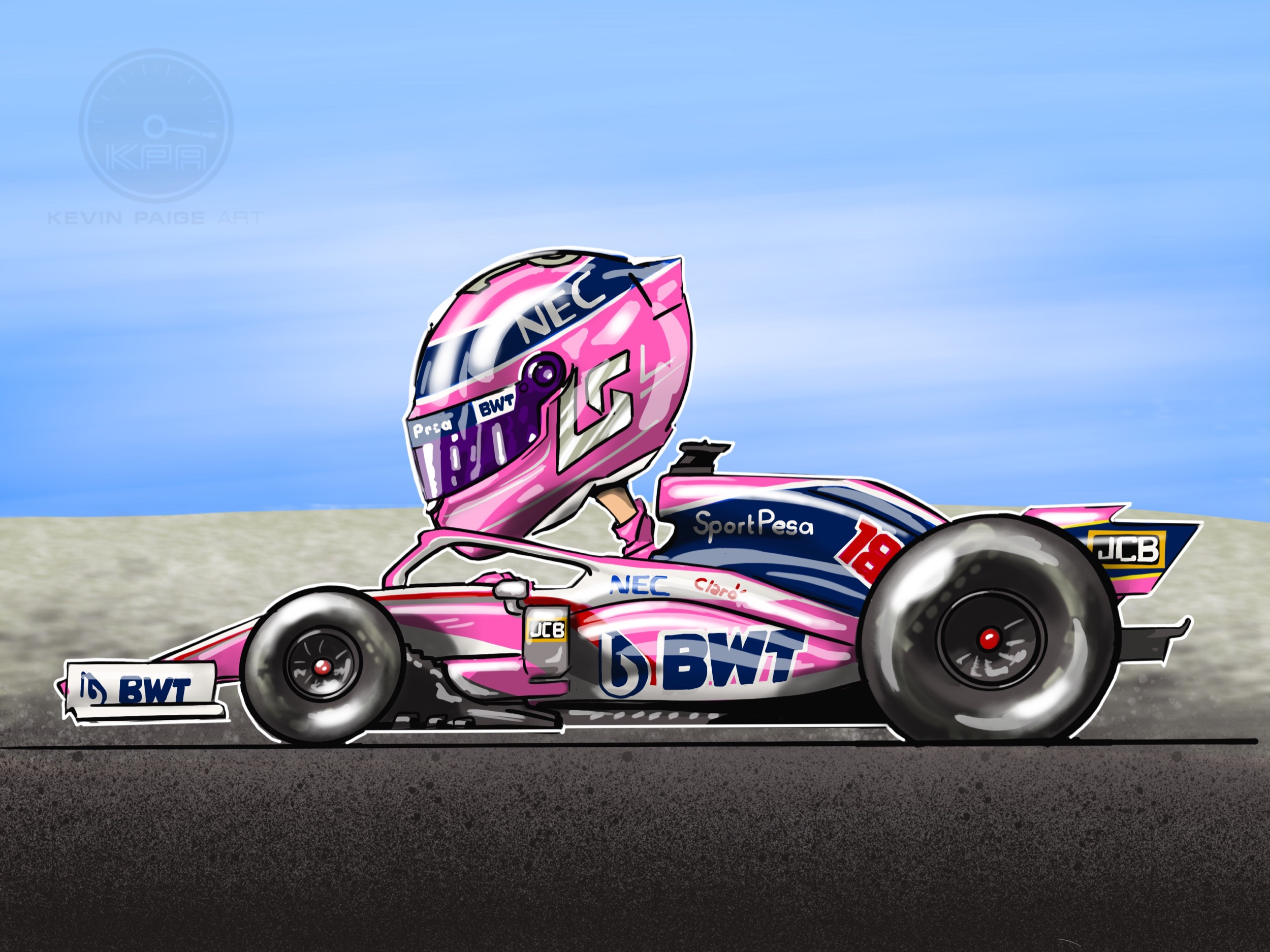 Lance Stroll Cartoon 2019