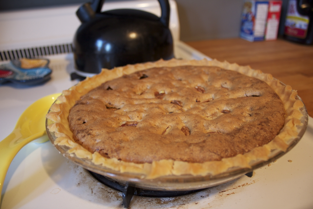 Pecan pie made with pecans from  the farm !