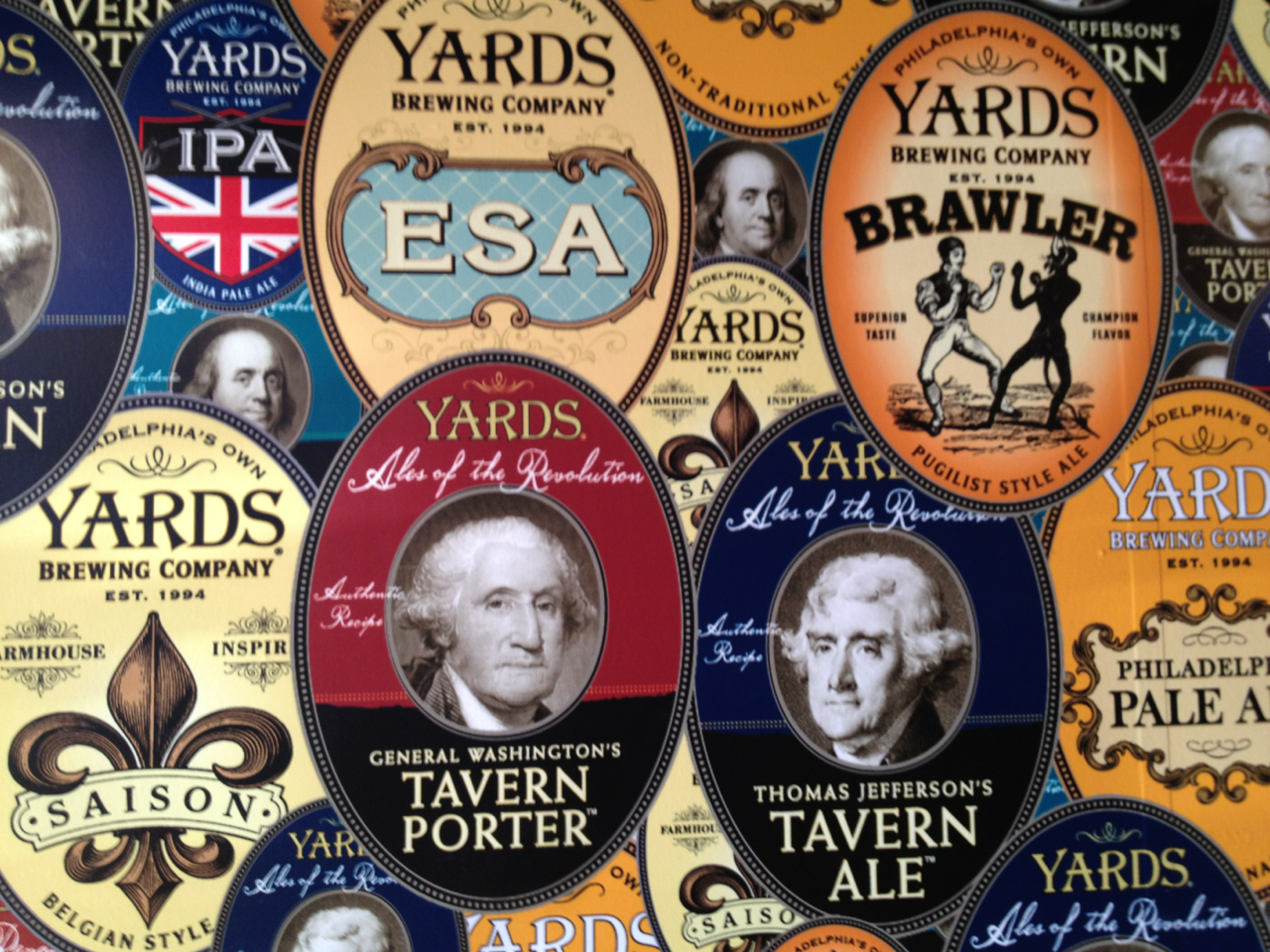 Yards Brewing Company, where we tasted the beers George Washington, Ben Franklin, and Thomas Jefferson would have drunk.