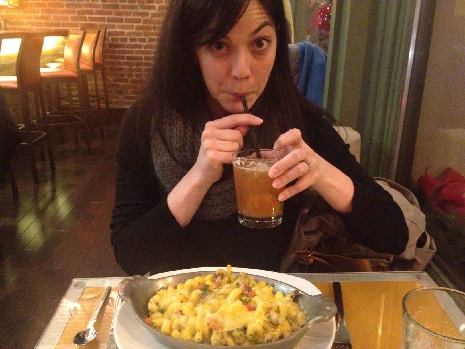 Per our server's recommendation, I ordered the green chile mac and cheese. I was not at all impressed.